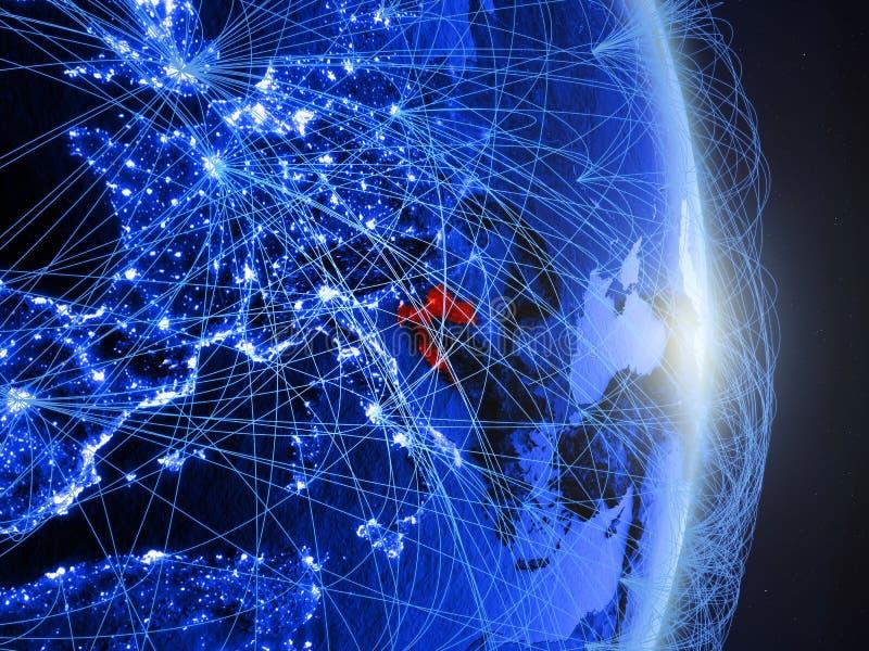 La Croatie sur la terre numérique bleue bleue image libre de droits