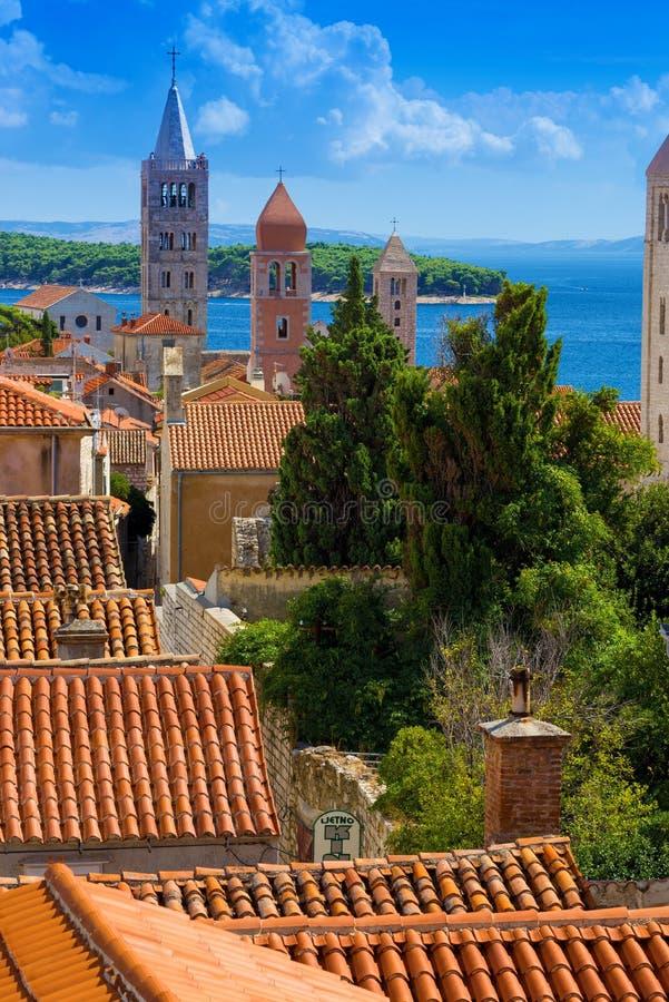 La Croatie, tour de Rab City 3 images libres de droits