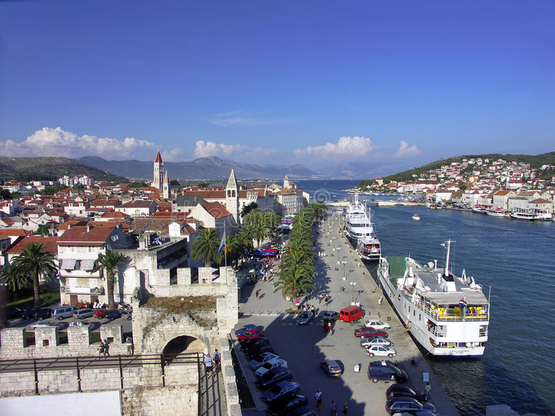 La Croatie - ville Trogir photo libre de droits