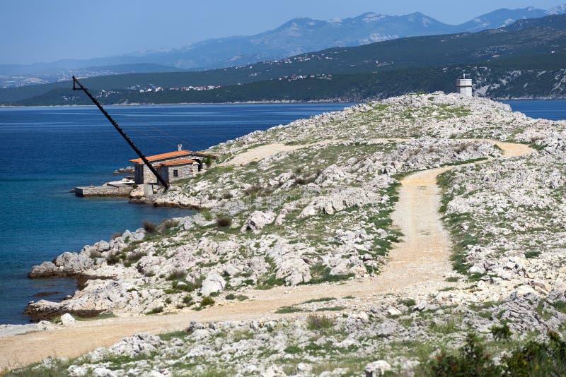 La Croazia, Kvarner, isola di Krk, città del silo immagine stock libera da diritti