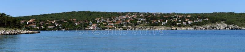 La Croazia, Kvarner, isola di Krk, città del silo fotografie stock