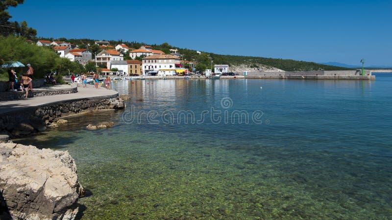 La Croazia, Kvarner, isola di Krk, città del silo fotografia stock libera da diritti