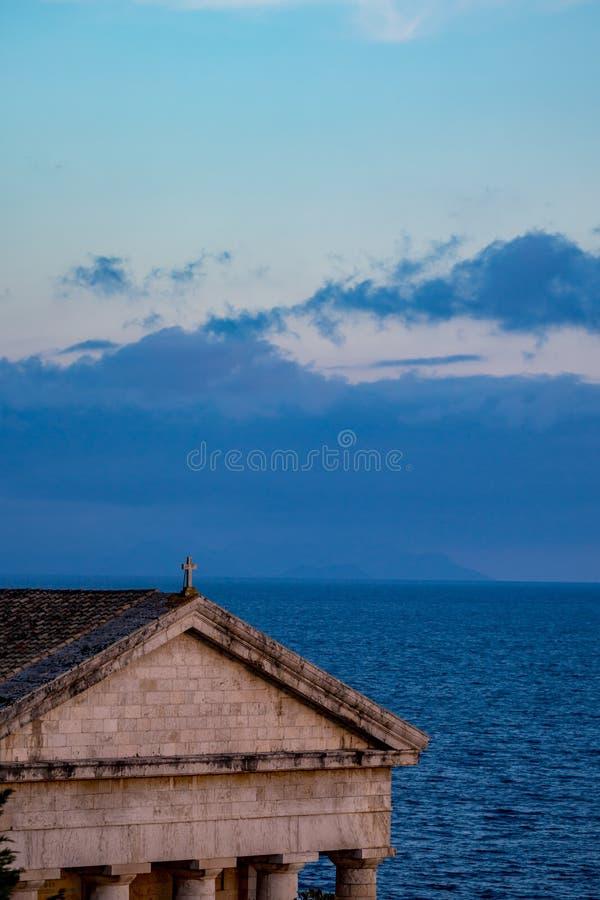La croix de St George, Kerkira, Corfou, Grèce image libre de droits