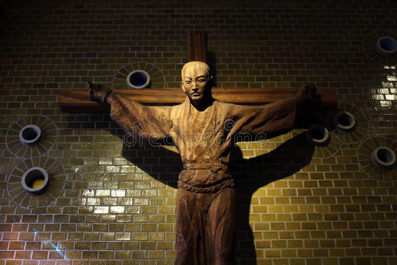 La croix de St Paul Miki ? dans le musée de 26 martyres image stock