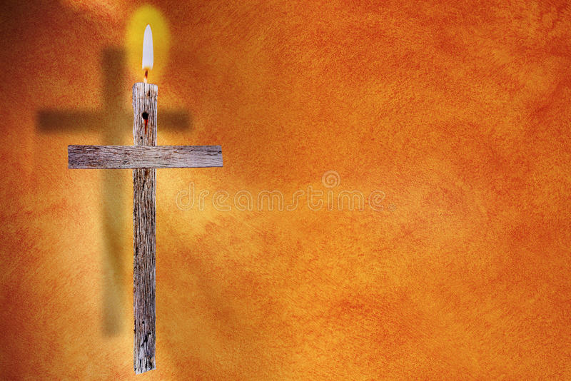 La croix - Pâques image libre de droits