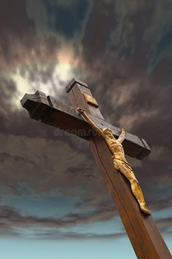 La crucifissione fotografie stock libere da diritti