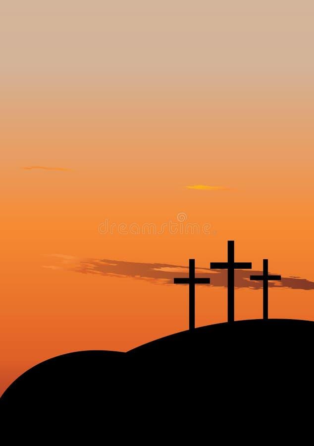 La crucifixión stock de ilustración