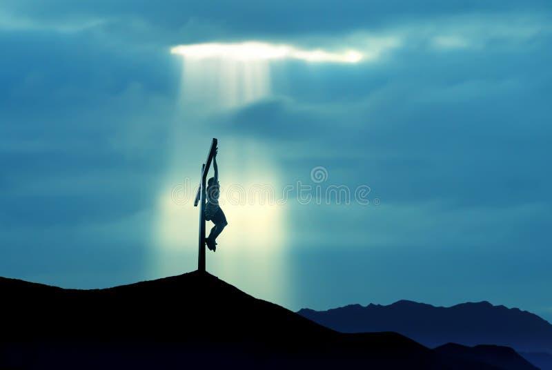 La crucifixión del Jesucristo imágenes de archivo libres de regalías