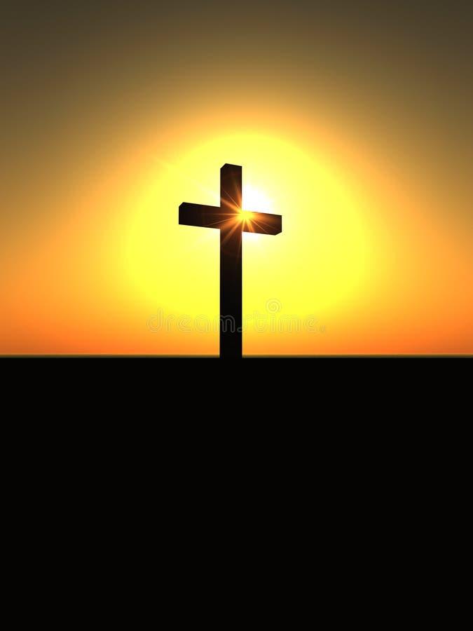 La cruz 3 ilustración del vector