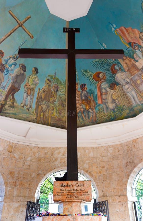 La cruz Cebú Filipinas de Magellan fotografía de archivo