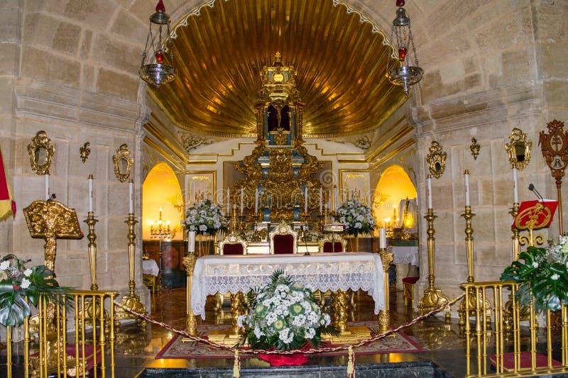 La Cruz Church Inside de Caravaca De imagem de stock