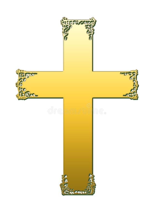 La cruz de metales ilustración del vector