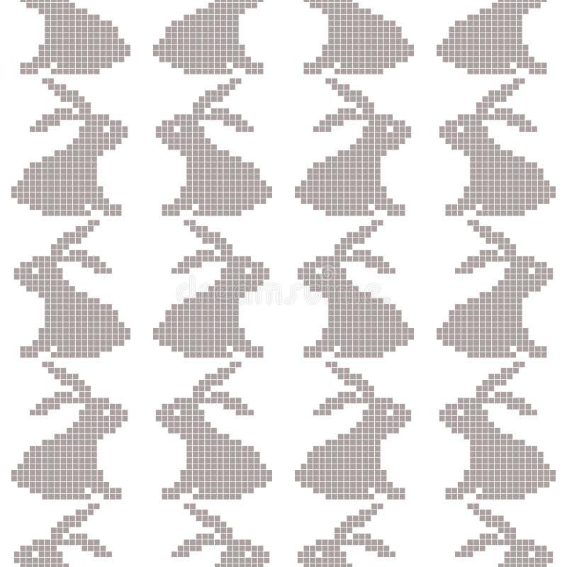 La cruz inconsútil cose el modelo del conejo en blanco libre illustration
