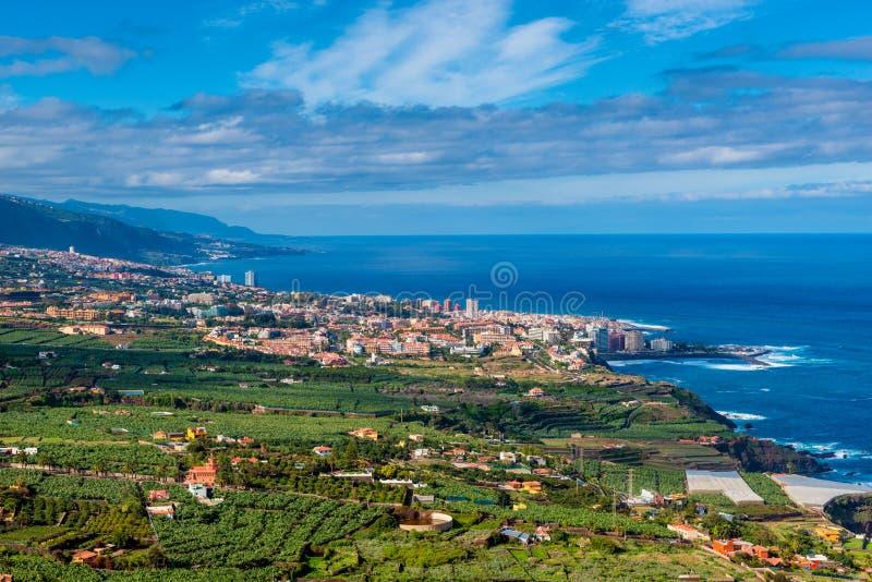La Cruz Tenerife de Puerto De photographie stock