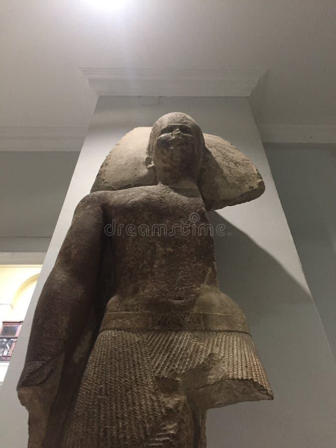 La cuarta estatua de rey Sneferu del fundador de la dinastía imagen de archivo libre de regalías