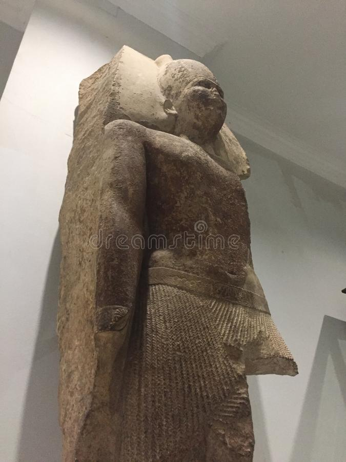 La cuarta estatua de rey Sneferu del fundador de la dinastía imágenes de archivo libres de regalías