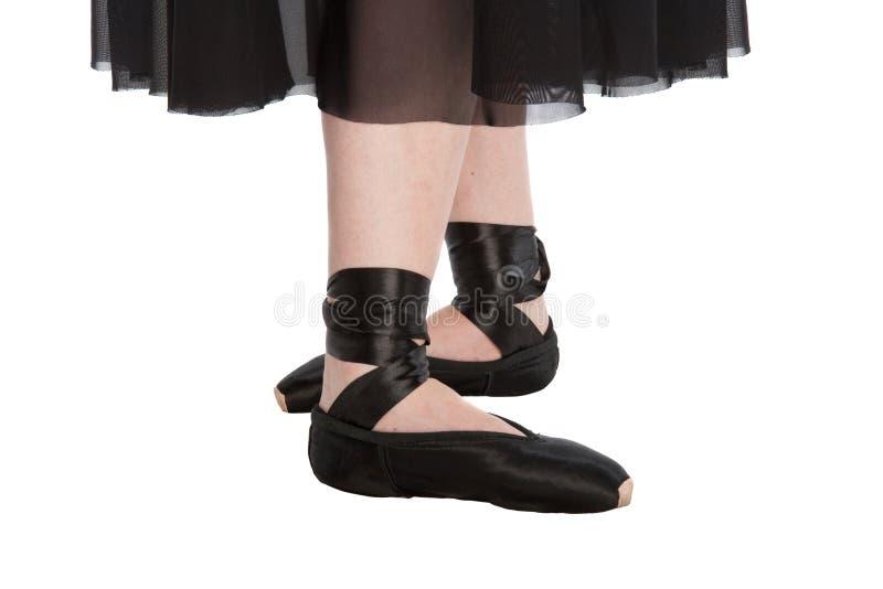 La cuarta posición de ballet imagen de archivo libre de regalías