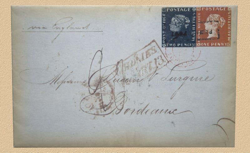 La cubierta de Burdeos de Mauricio imagenes de archivo