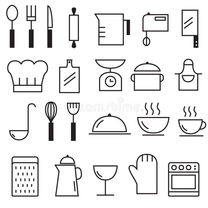 La cucina foggia l'icona immagine stock libera da diritti