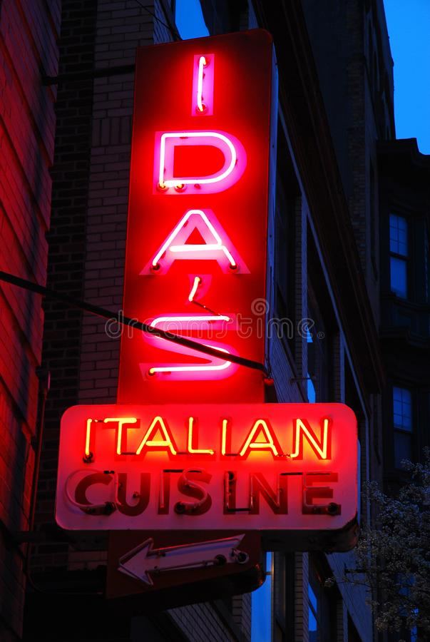 La cucina italiana dell'IDA fotografie stock libere da diritti