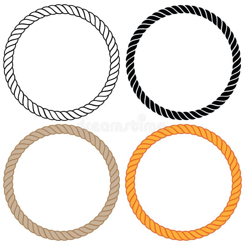 La cuerda torcida trenzada circunda el ejemplo del vector libre illustration