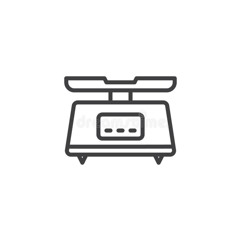 La cuisine de Digital mesure la ligne icône illustration libre de droits