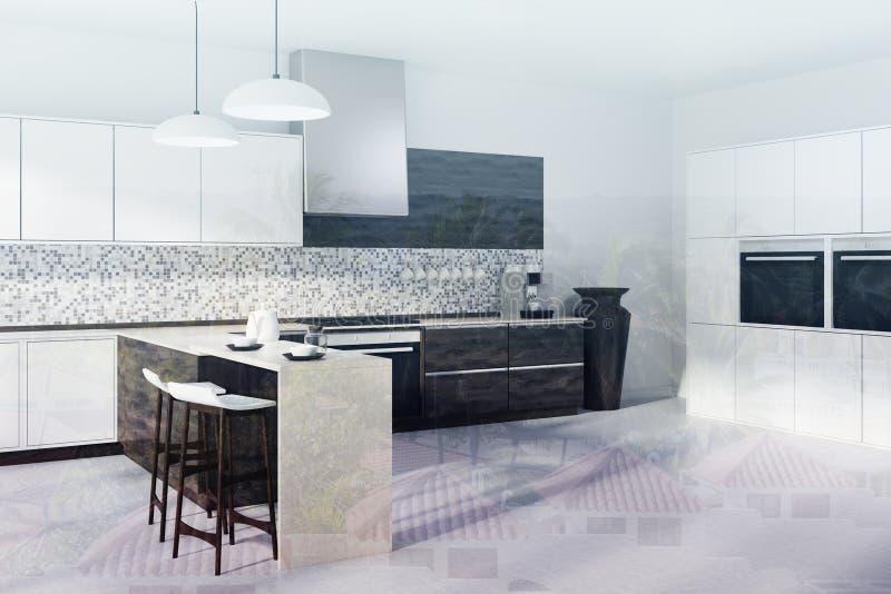 download la cuisine de mosaque les partie suprieure du comptoir en bois fonces dgrossissent ton