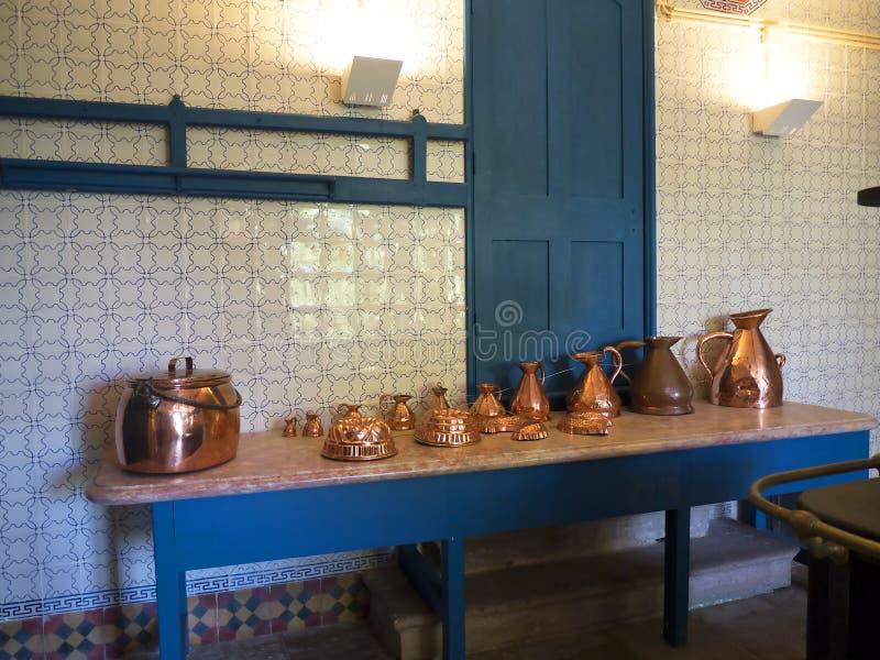 La cuisine du palais de Monserrate est une villa somptueuse exotique et gardenlocated dans Sintra, Portugal, image libre de droits