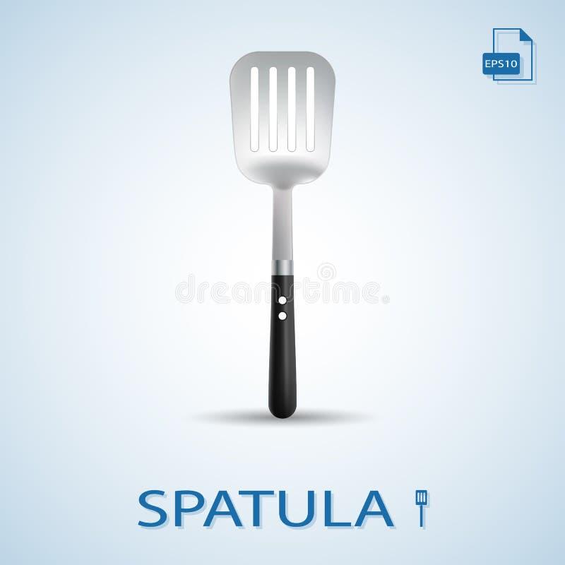 La cuisine usine la spatule sur un fond Illustration de vecteur illustration stock