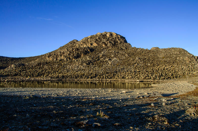 La Culata 4. One of many valleys seen in La Culata National Park stock image