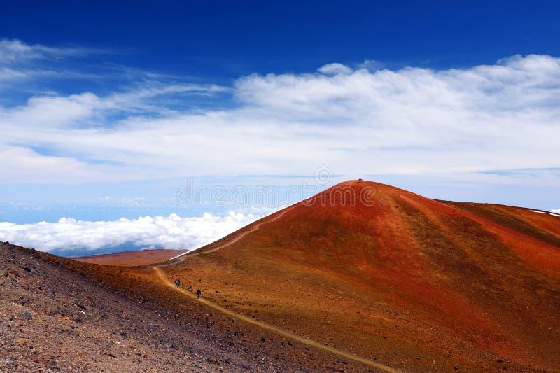 La cumbre de Mauna Kea, un volcán inactivo en la isla de Hawaii, los E.E.U.U. fotografía de archivo