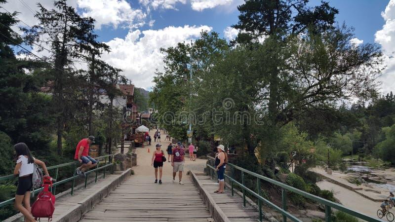 La cumbrecita Bridge stock image