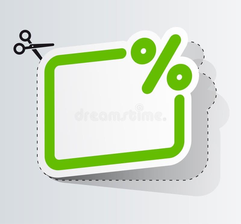 La cupón en el descuento stock de ilustración