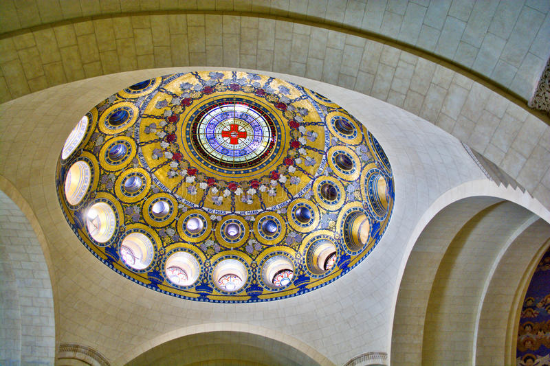 La cupola della basilica del rosario fotografie stock libere da diritti