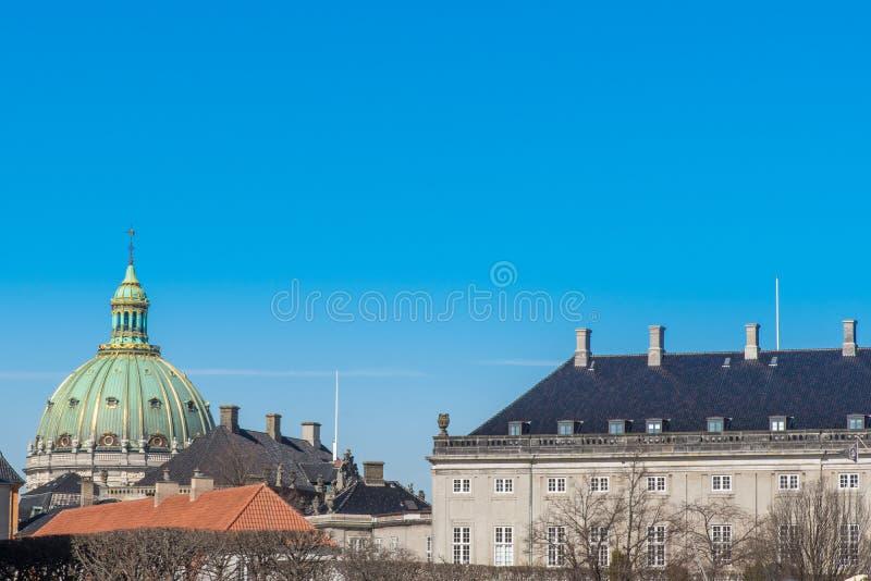 La cupola della chiesa di Frederik, Copehagen La chiesa di Frederik è m. fotografie stock libere da diritti