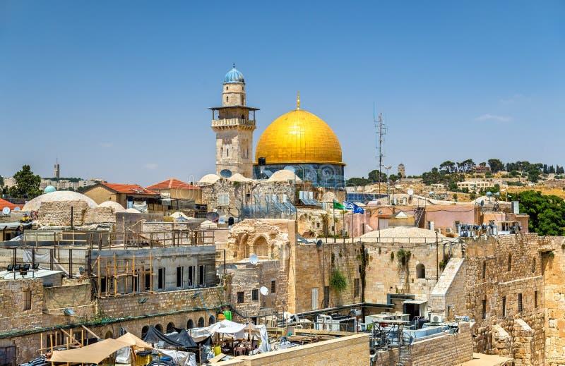 La cupola della roccia a Gerusalemme fotografie stock