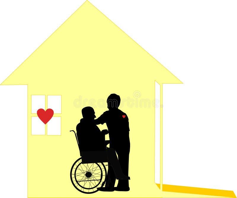 La cura amorosa di cura domestica e Pallative si preoccupano illustrazione vettoriale