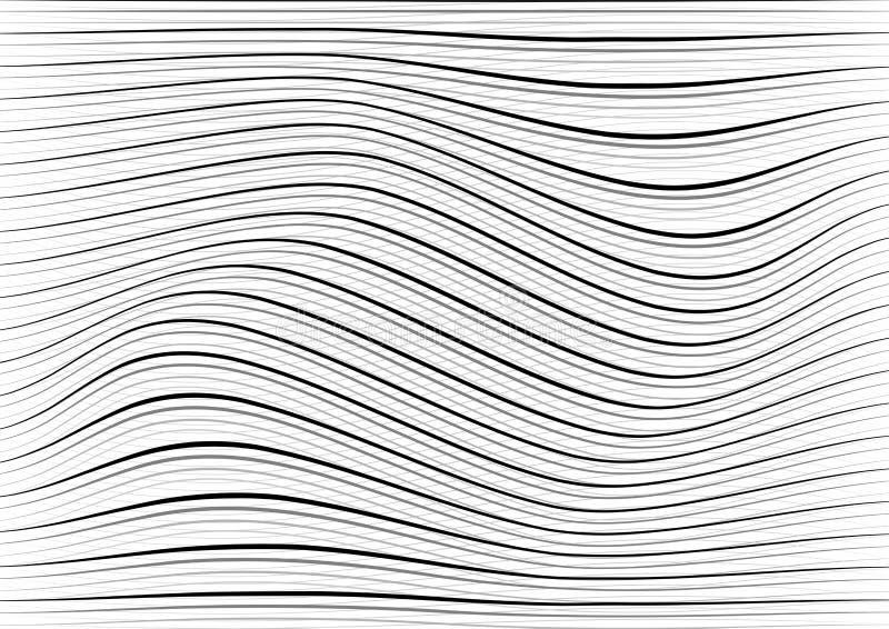 La curva caótica al azar blanca y gris abstracta alinea texturas gru fotografía de archivo libre de regalías