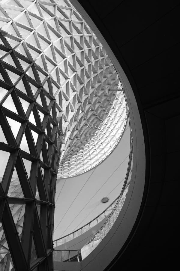 La curva del eje de la expo imagen de archivo libre de regalías