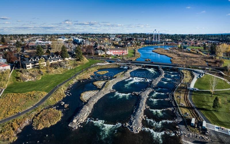 La curva, parque de Oregon Whitewater fotografía de archivo libre de regalías