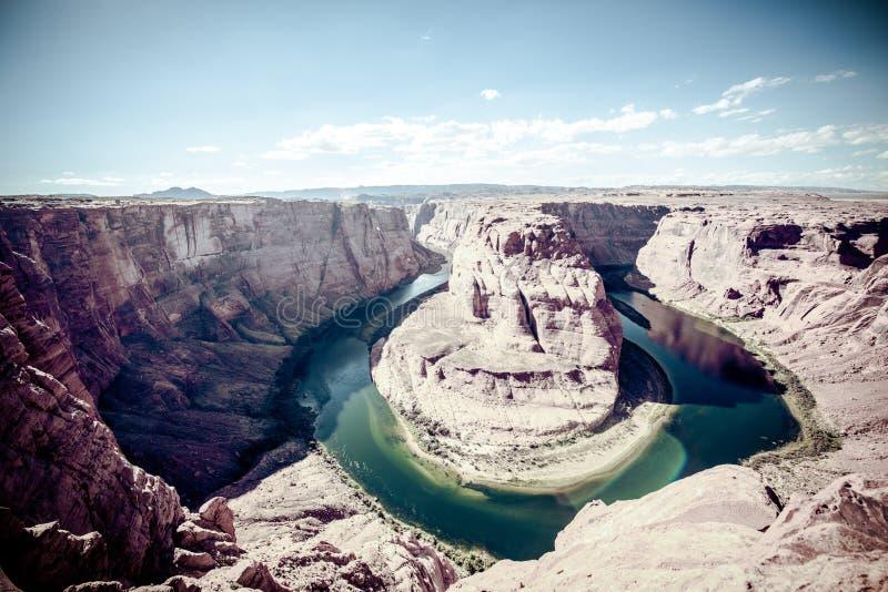 La curvatura a ferro di cavallo in Grand Canyon Arizona immagine stock libera da diritti