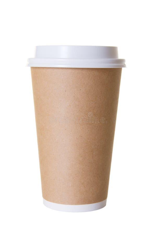 la cuvette de café disparaissent d'isolement à photographie stock libre de droits