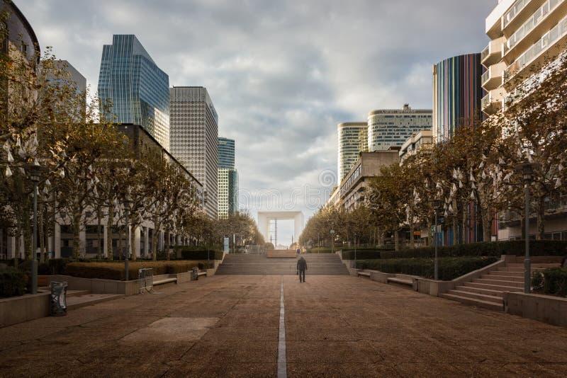 La Défense sur samedi après-midi photos libres de droits