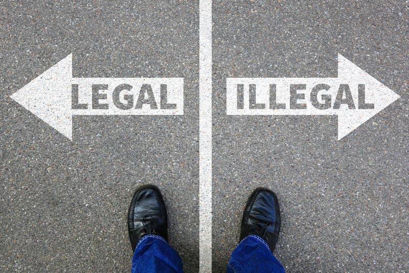 La décision illégale juridique de concept d'homme d'affaires d'homme d'affaires interdisent photographie stock