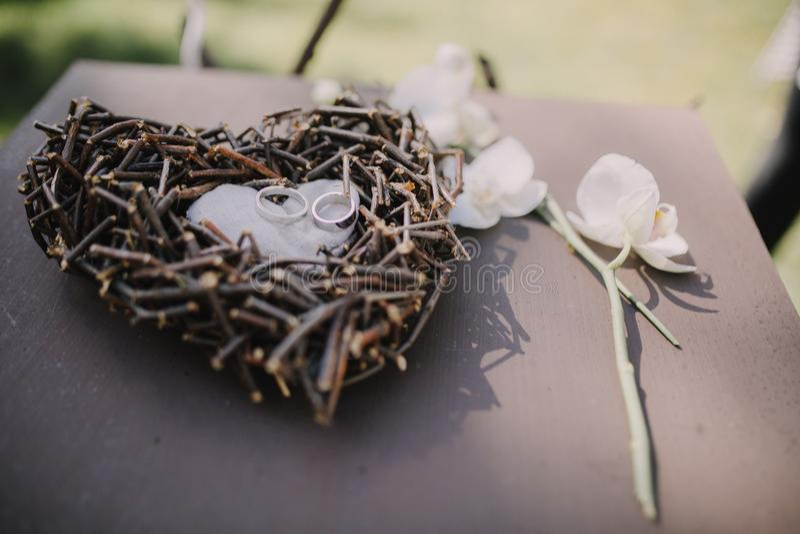 La décoration du mariage photos stock