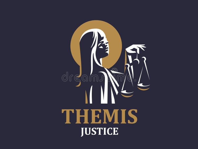 La déesse du juge Themis illustration de vecteur