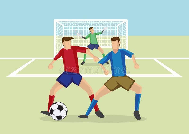 La défense d'homme à homme de sports du football illustration libre de droits
