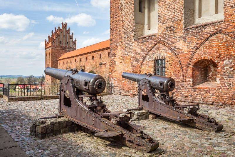 La défense médiévale de château images libres de droits