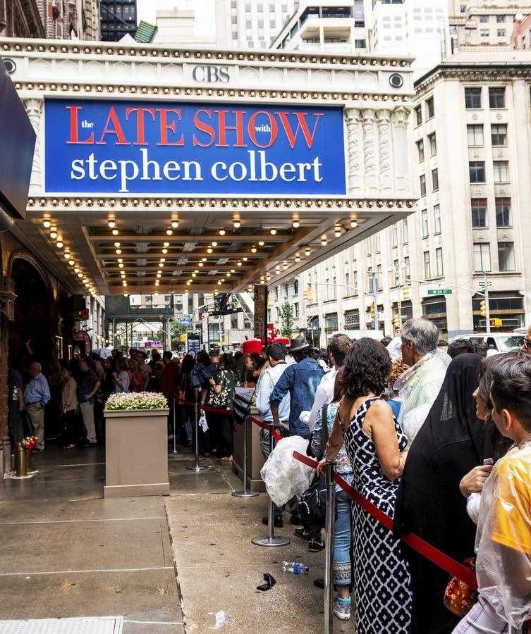 La défunte exposition avec Stephen Colbert images libres de droits