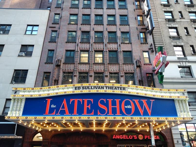 La défunte exposition avec Stephen Colbert, Ed Sullivan Theater, studio 50, NYC, NY, Etats-Unis de CBS photos stock
